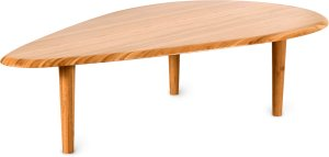 Table basse Mini Almond design en bambou massif couleur naturelle