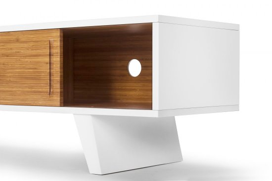 TV unit design Wasabi Ming en white