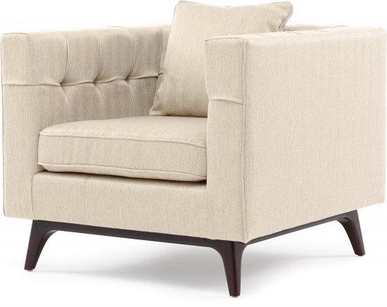 Nobu marron sofa - Fauteuil crapaud beige ...