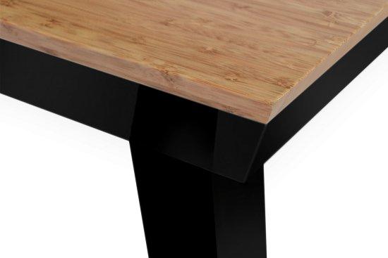 table manger design original bois naturel origami en noir